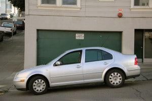 towing-Car blocking a driveway